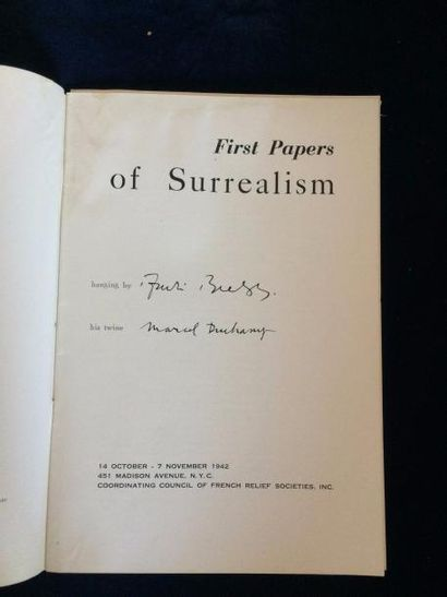 [SURRÉALISME]. FIRST PAPERS OF SURREALISM....