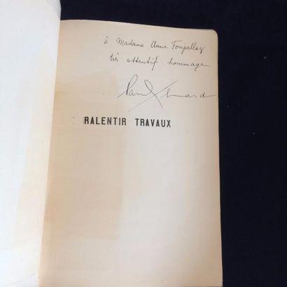 BRETON André. CHAR René. ELUARD Paul RALENTIR TRAVAUX. Paris, Editions Surréalistes,...