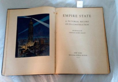 [ARCHITECTURE AMÉRICAINE]. HOWE BAILEY Vernon. EMPIRE STATE BUILDING pictorial record...