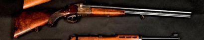 Fusil de chasse Drilling, deux coups, calibre...