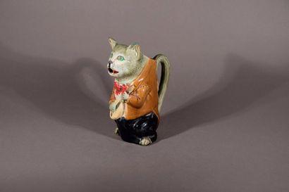 Pichet chat déguisé en en joueur de mandoline...
