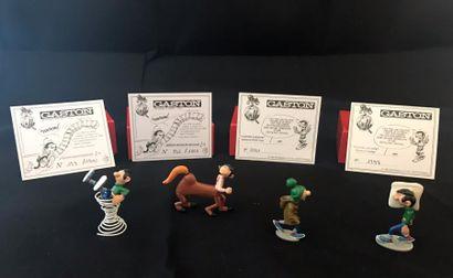 Lot de 4 figurines Pixi: - Gaston Lagaffe...