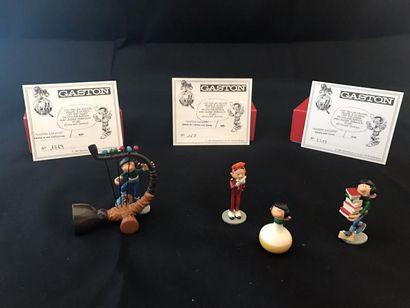 Lot de 3 figurines Pixi: - Gaston et son...