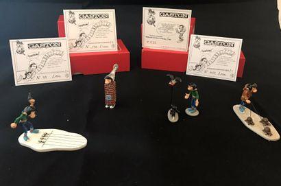 Lot de 4 figurines Pixi: - Gaston et la course...