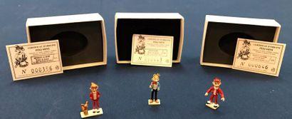 Lot de 5 figurines Pixi: - Spirou dans son...
