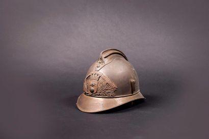 Casque de sapeur pompier modèle 1886 en laiton,...