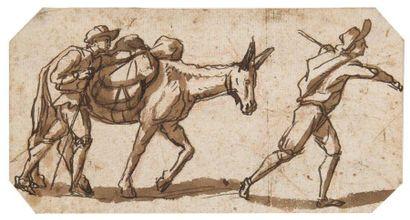 ATTRIBUÉ À FILIPPO D'ANGELI DIT IL NAPOLETANO (ROME 1600 - 1640)