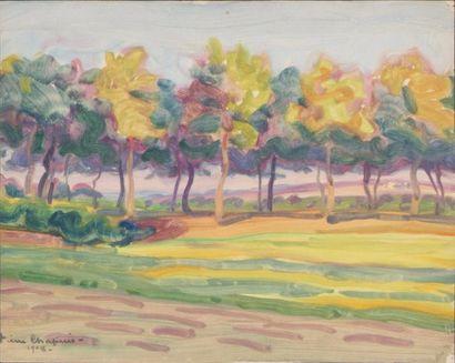 Lot de 4 oeuvres de Pierre Chapuis ( 1863-1942)...
