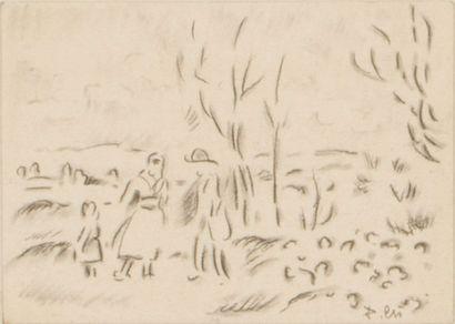 Lot de 7 oeuvres de Pierre Chapuis ( 1863-1942)...