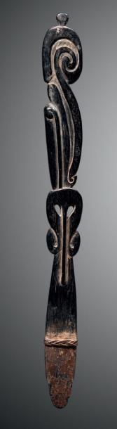 Spatule à chaux avec ligature, Massim, Papouasie...