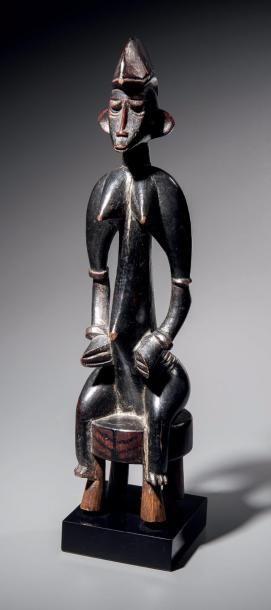 Statuette Senoufo, Côte d'ivoire Bois à patine...