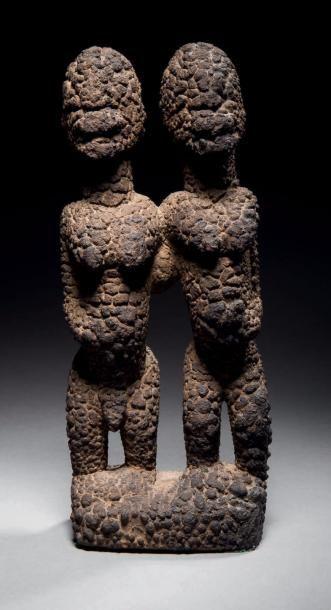 Couple de statues Tellem/Dogon, Mali Epoque:...