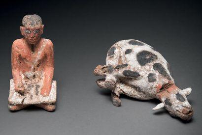 Deux figurines de modèles. Lot composé de...