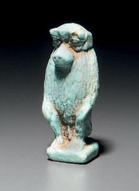 Amulette représentant le dieu Thot-babouin...