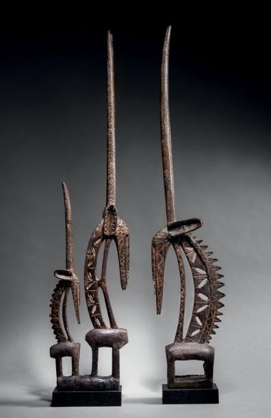 Couple d'antilopes tji wara Bamana, Mali...