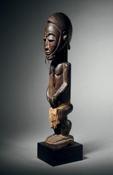 Statue Baoulé, Côte d'Ivoire Bois à patine...