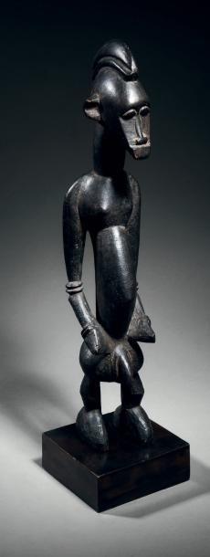 Superbe statuette masculine Sénoufo, Côte...