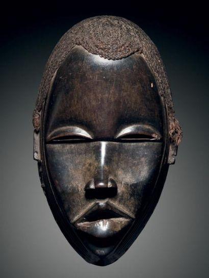 Masque Dan Diomande, Côte d'Ivoire Bois dur...