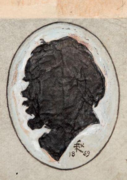 [VERLAINE] - RÉGAMEY (Félix) peintre, dessinateur et caricaturiste, ami de Verlaine et de Rimbaud (1