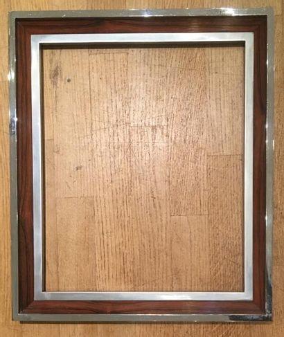 Cadre en métal et bois XXe siècle 44 x 36...