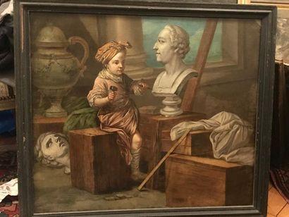 Ecole française dans le goût du XVIIIe siècle