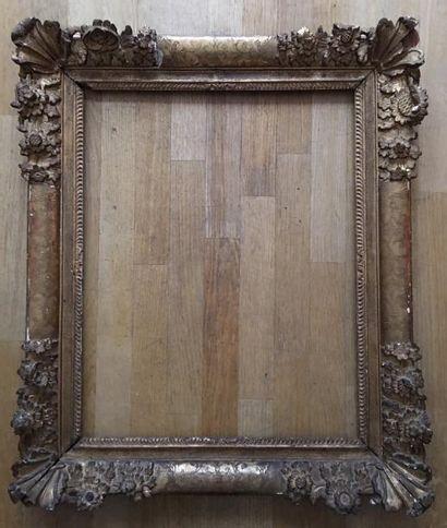 Cadre en chêne doré Epoque Louis XIV 67,5...