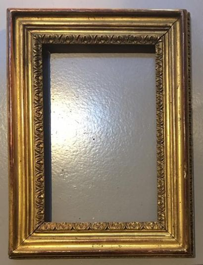 Cadre Louis XV en chêne doré 22 x 14cm -...