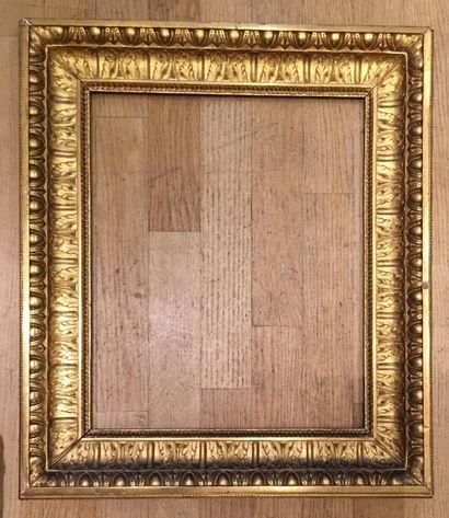 Cadre Louis XVI en chêne doré 45 x 37cm -...