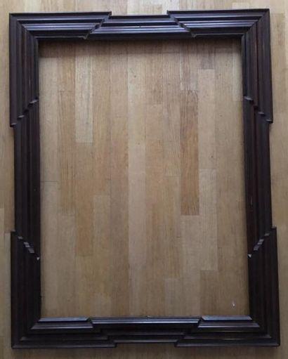 Grand cadre XIXe 107,5 x 79,5 cm - Profil:...