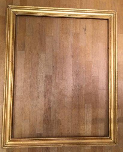 Grand cadre en bois doré Italie, XVIIIe siècle...