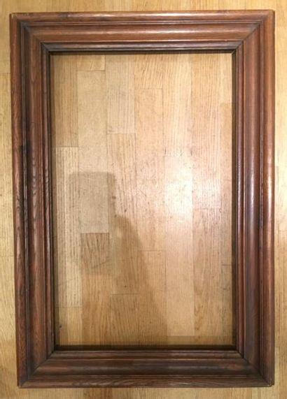 Large moulure XIXe 70,5 x 43,5 cm - Profil:...