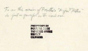 DOROTHEA LANGE (1895-1965) Migrant Mother, variante, 1936 Berkeley, années 1950 Épreuve...