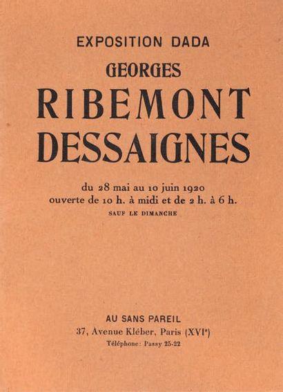 [RIBEMONT-DESSAIGNES Georges]. TZARA Tristan.