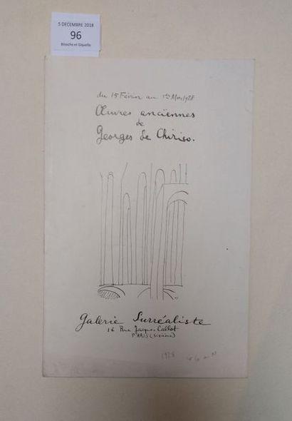 [CHIRICO Giorgio de]. ARAGON Louis