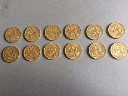 26 pièces en or Grande-Bretagne, Victoria,...