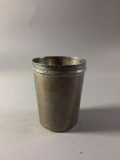 Timbale en argent (950/°°) A décor d une...