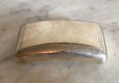 Boîte à profil cintré en argent (800/°°)...