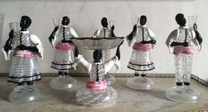 Garniture de table en verre de Venise Modèle...