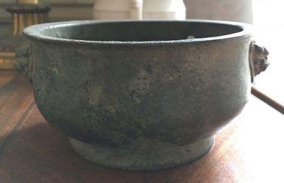 CHINE - Brûle-parfum Bronze XIXème siècl...