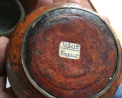 TIBET - Bol En alliage métallique XIXème siècle