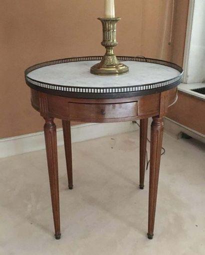 Table de bouillotte En bois naturel, ouvrant...