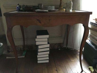 Table de tric-trac en bois de placage Le...