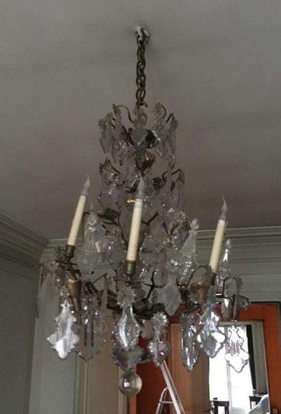 Lustre cage à six bras de lumière En métal...