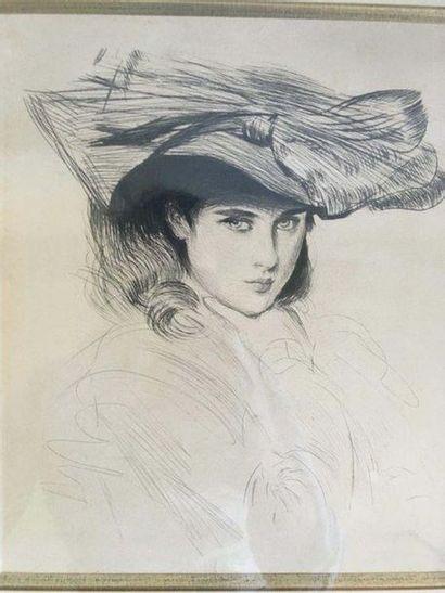 Paul César HELLEU (1859-1927) Portraits de...