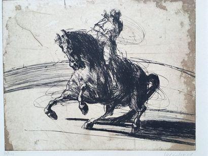 Ensemble de deux gravures de Claude WEISBUCH...
