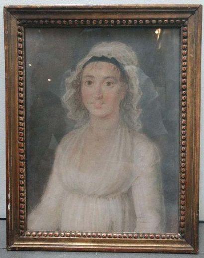 ECOLE FRANCAISE DU XIXe SIECLE Portrait de...