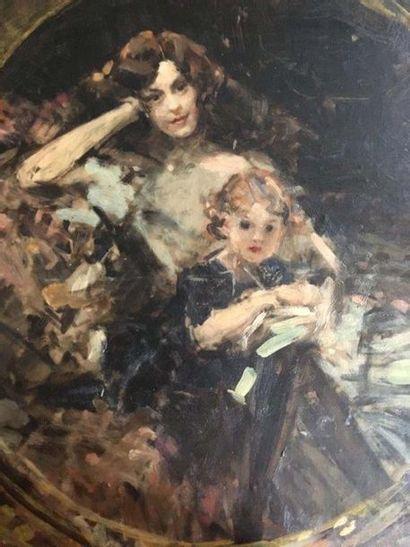 Aimé Nicolas MOROT (1850-1913) Portrait d'une...