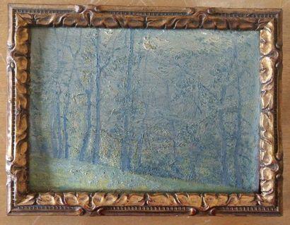 PRECALORQ (?) Paysage de forêt Huile sur...