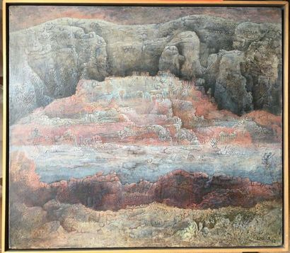 Claudie MARX (née en 1932) Composition abstraite...