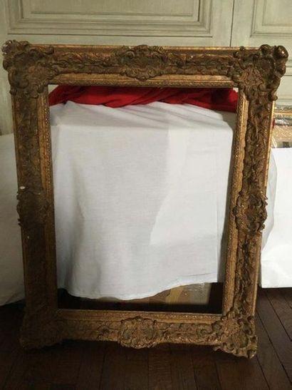 Cadre en chêne doré Époque Louis XVI La vue...